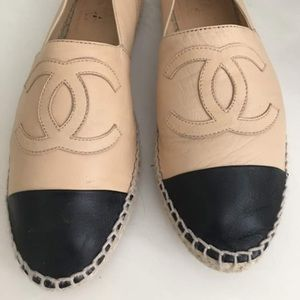 Chanel Espadrille Beige and Black